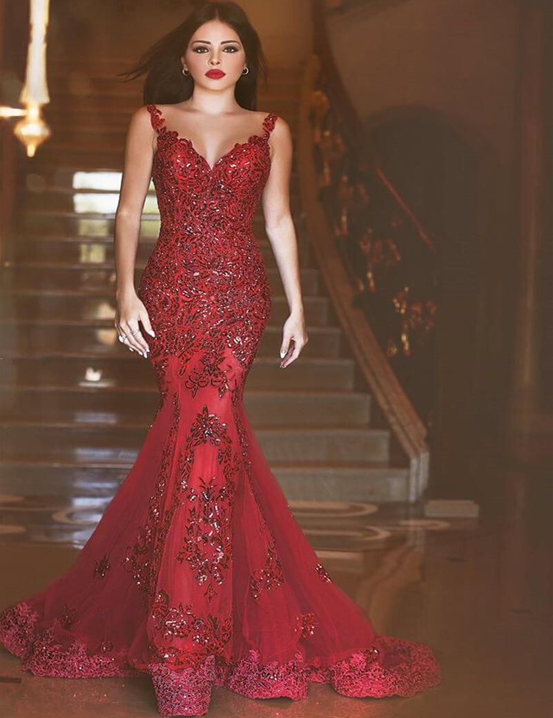2017-Evening-Dresses-Women-Evening-Long-Dress-Mermaid-Sequin-Appliques-Lace-Sweep-Train-vestidos-de-fiesta (1)