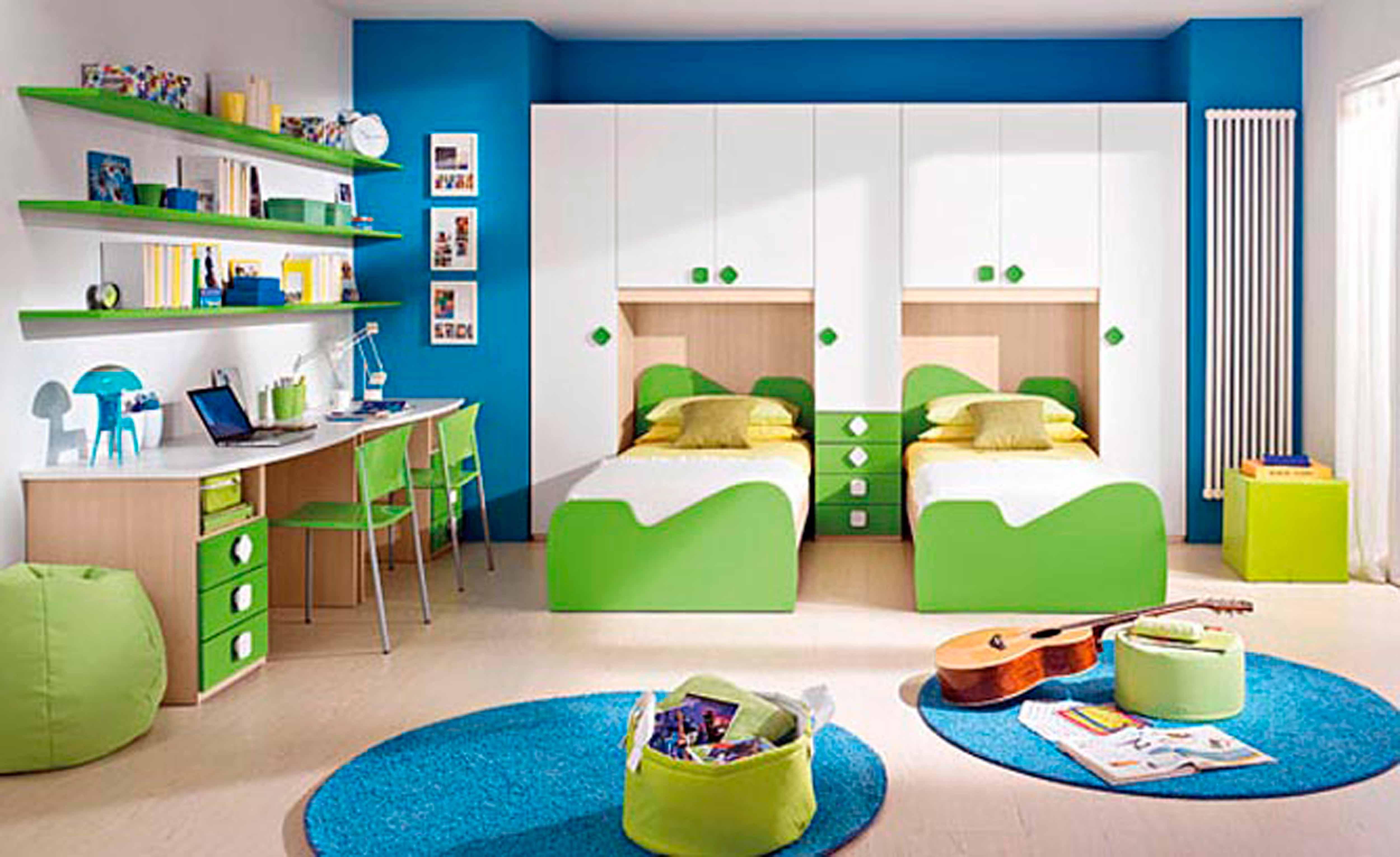 beautiful-blue-yellow-wood-glass-luxury-design-bedroom-modern-kids-bedrooms-for-kids (1)