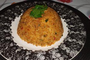 طريقة عمل الأرز باللحم المفروم حجم عائلى كبير
